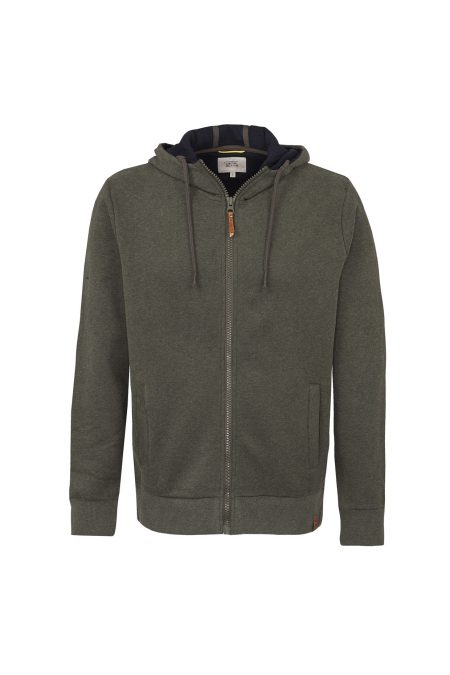 ZIP UP HOODIE - DARK BLUE