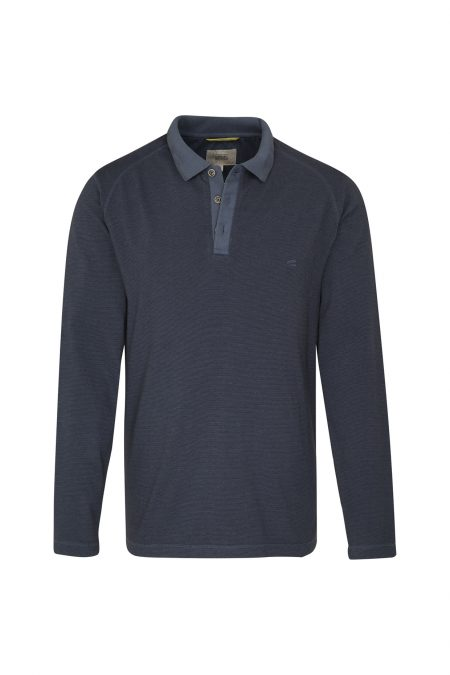 LONG SLEEVE POLO SHIRT - BLUE