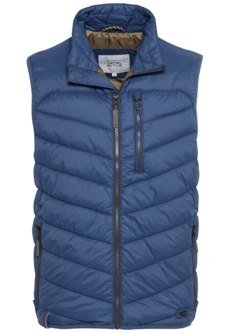 QUILTED VEST- STONE