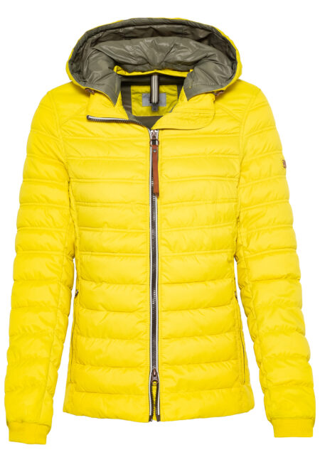 LADIES QUILTED JACKET- YELLOW