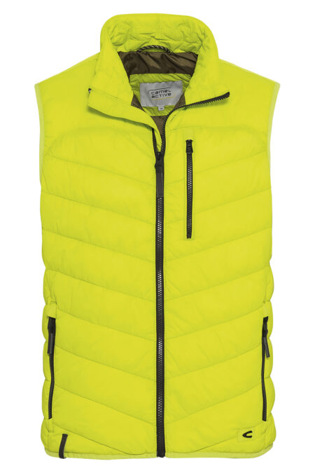 QUILTED VEST- YELLOW