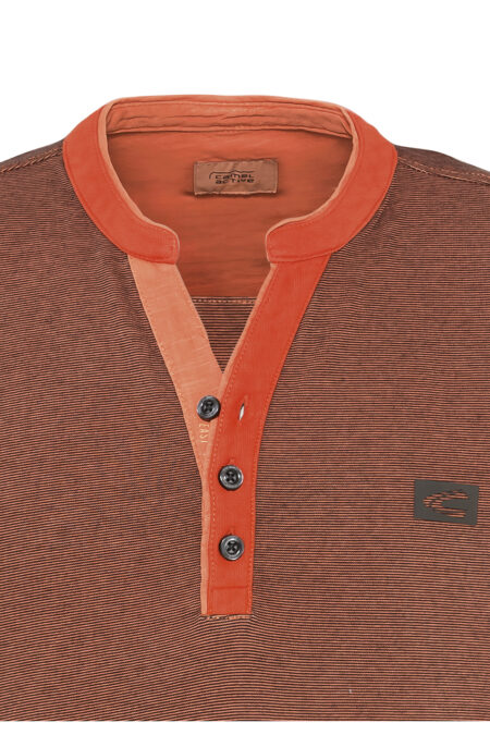 HENLEY LONG SLEEVE SHIRT- ORANGE