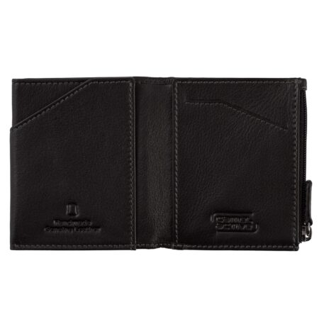 RFID WALLET WITH ZIP- BLACK