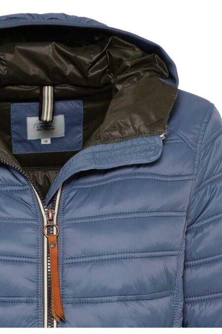 QUILTED SHORT COAT- LIGHT BLUE