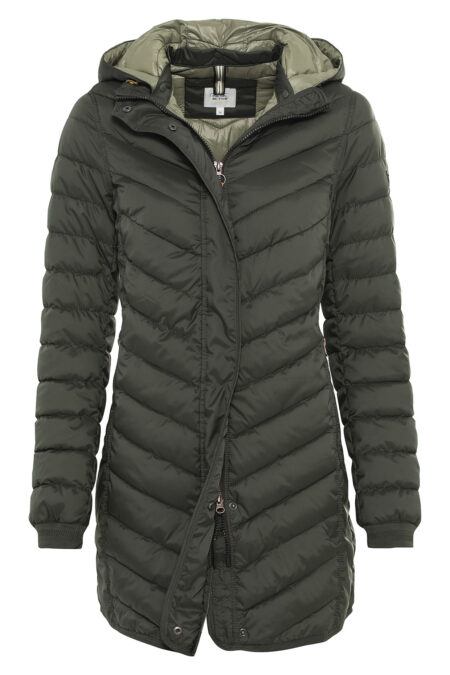 QUILTED COAT- DARK GREEN
