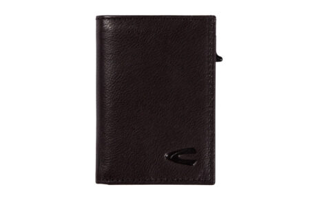RFID CARD HOLDER SMALL WITH ZIP- BLACK