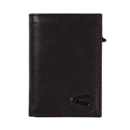 RFID CARD HOLDER WITH ZIP- BLACK