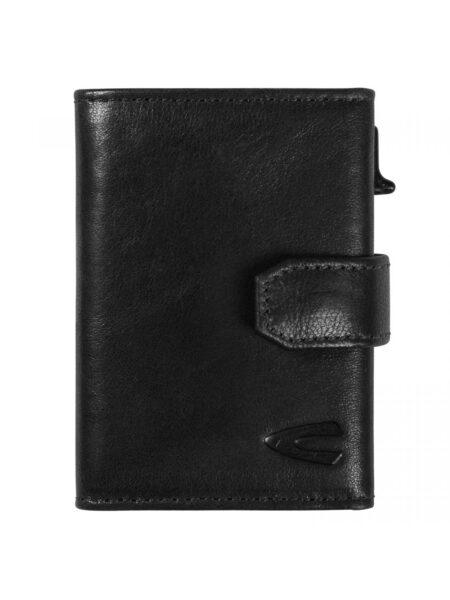 RFID CARD HOLDER CASE MEDIUM WITH ZIP- BLACK