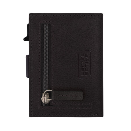 RFID CLIP CARD HOLDER WITH ZIP- BLACK