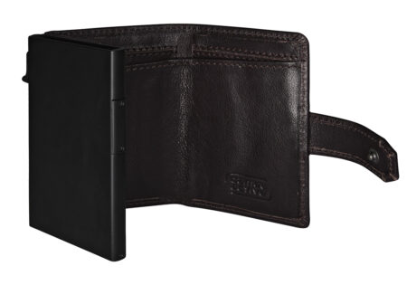 RFID CLIP CARD HOLDER - BROWN