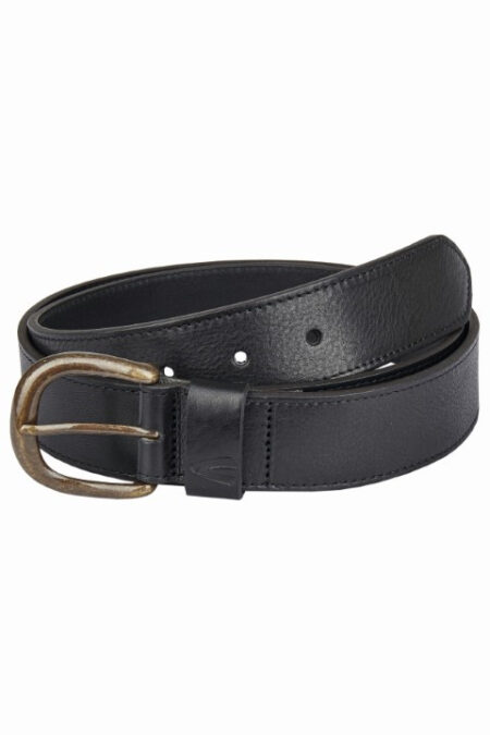 LADIES LEATHER BELT- BLACK