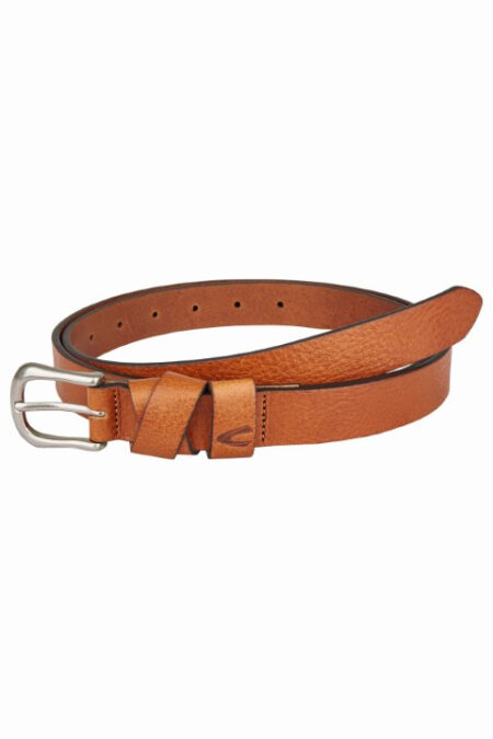SLIM LADIES LEATHER BELT- COGNAC