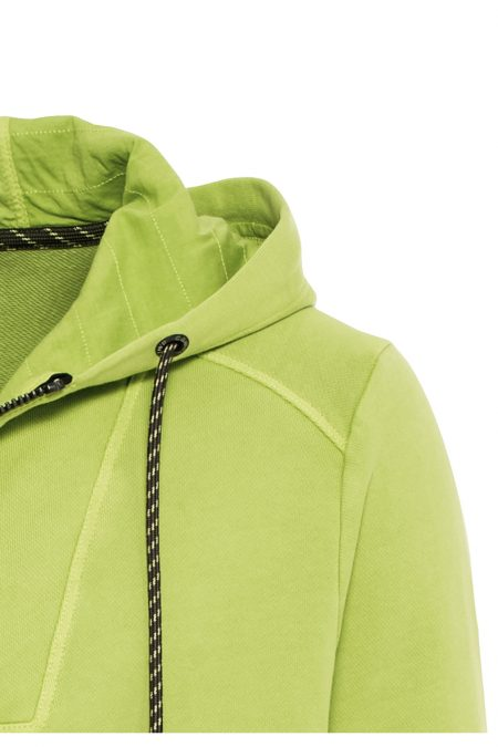 HOODIE WITH ZIP- LIME