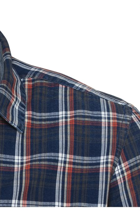 KENT CHECK SHIRT- BLUE