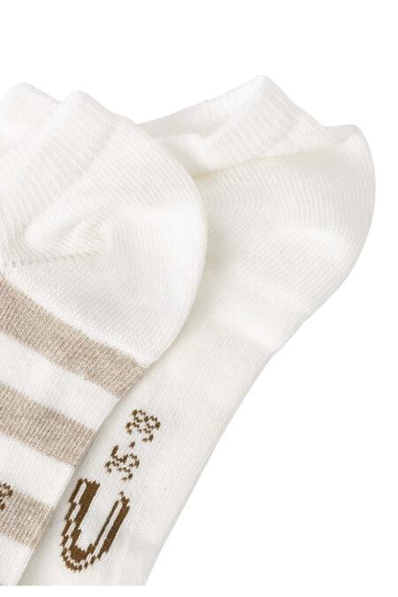 LADIES SNEAKER SOCKS- OFF WHITE