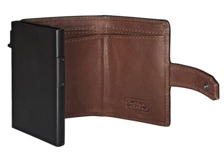 RFID CLIP CARD HOLDER - COGNAC