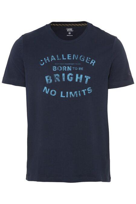 PRINTED T-SHIRT- BLUE