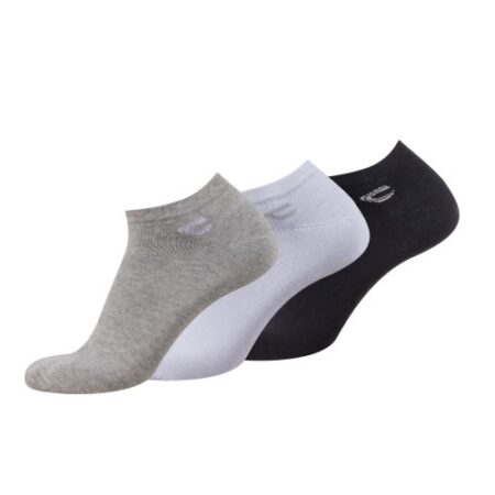 BASIC SNEAKER SOCKS 3 PACK- WHITE GREY BLACK
