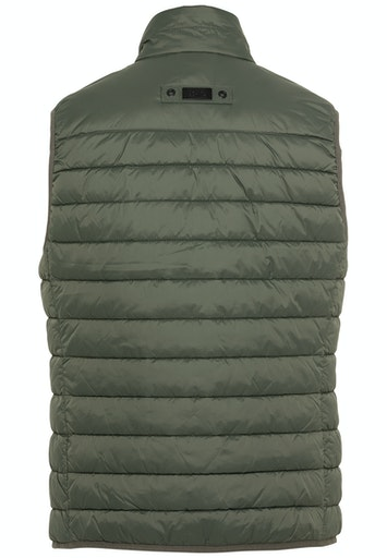 RECYCLED MATERIAL QUILTED VEST- KHAKI