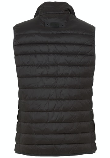 RECYCLED MATERIAL QUILET VEST- BLACK