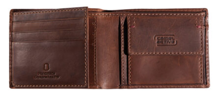 LEATHER WALLET- BROWN