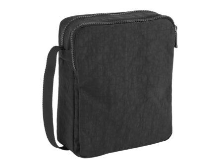 MEDIUM NYLON SHOULDER BAG- BLACK