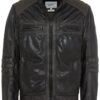 LEATHER JACKET- BROWN