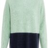 PULLOVER COLOUR BLOCK- MINT AND BLUE
