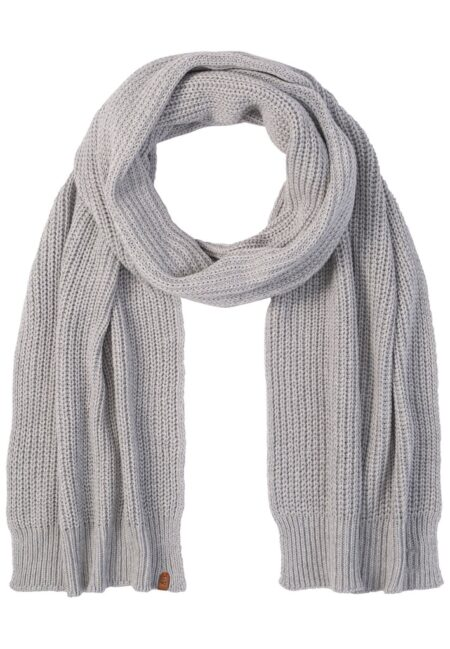 KNITTED SCARF- GREY