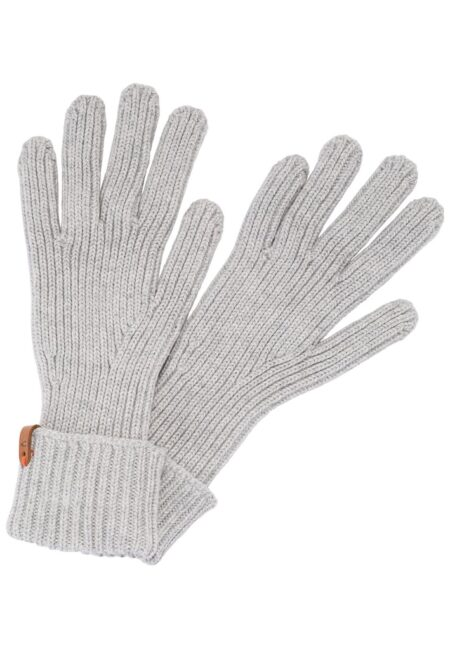 KNITTED GLOVES- GREY