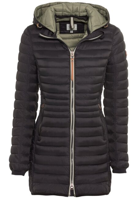 LONG QUILTED JACKET- BLACK