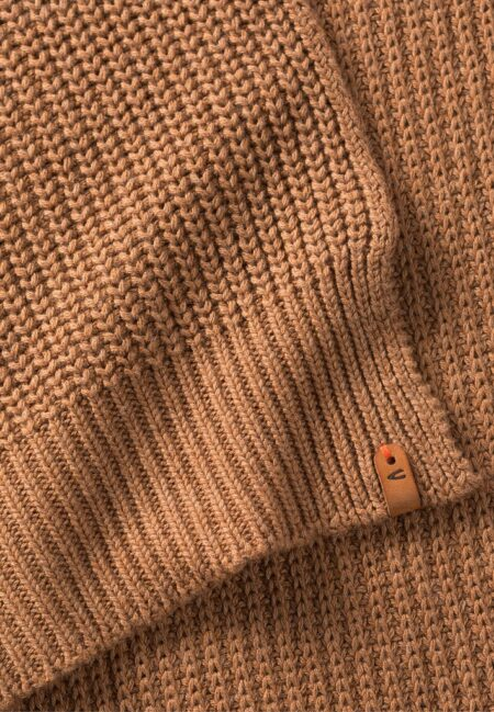 KNITTED SCARF- BROWN