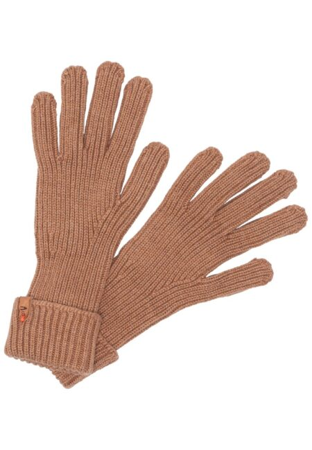 KNITTED GLOVES- BROWN