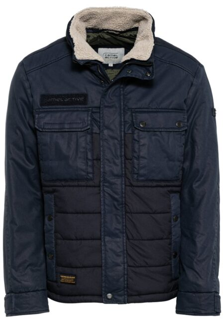 QUILDED JACKET- BLUE