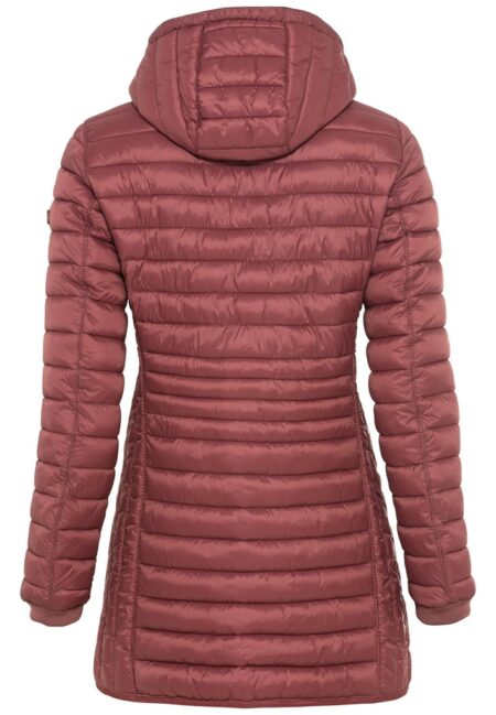 LONG QUILTED JACKET- RED